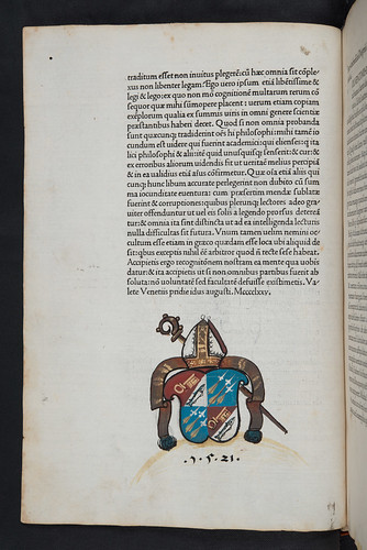 Monastic coat of arms in Diogenes Laertius: Vitae et sententiae philosophorum