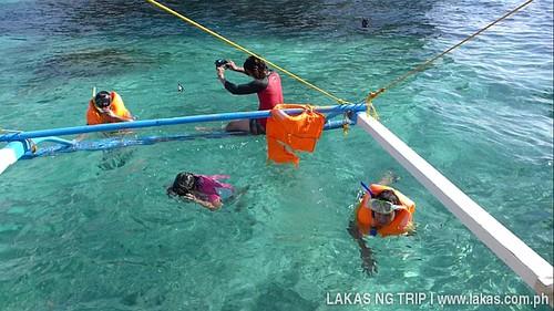 Snorkeling at the waters of Simizu Island at El Nido, Palawan