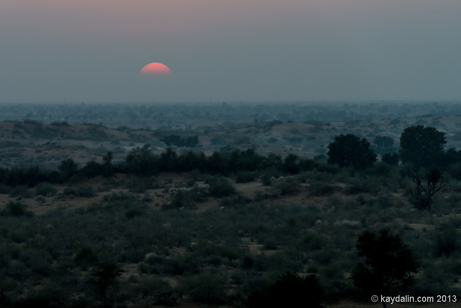 Desert. India. Sunset