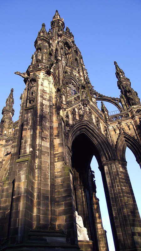 Scott Monument, spring sunset 01
