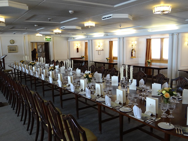 Royal Yacht Britannia State Dining Room Food