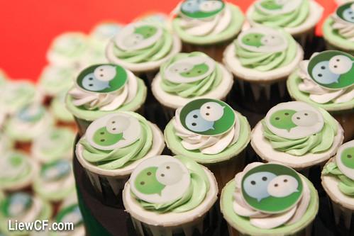 WeChat cupcake