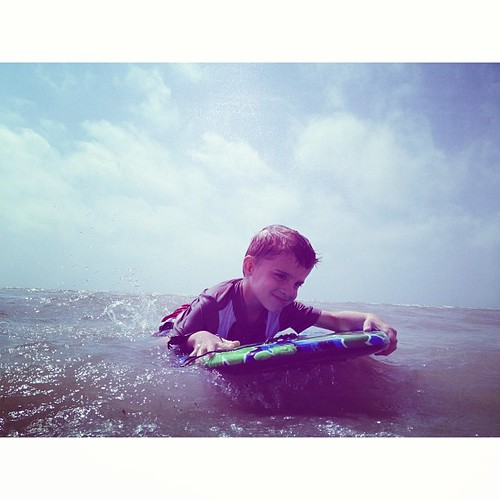 Jack rocked the boogie board.