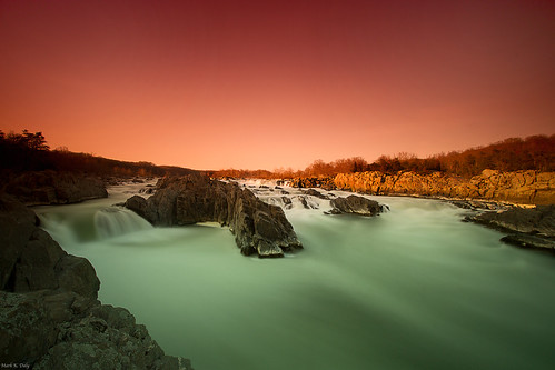 Dusk at Great Falls, Virginia