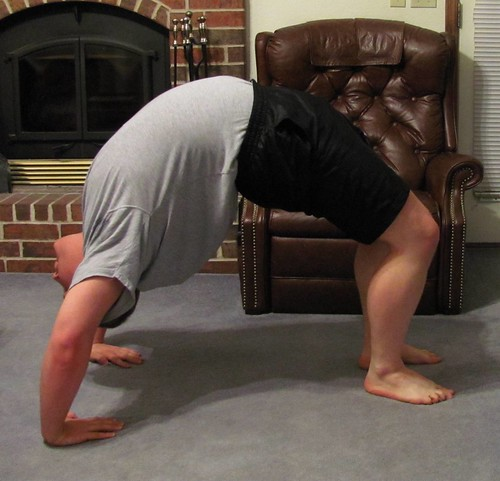 Yoga backbends: Upword bow