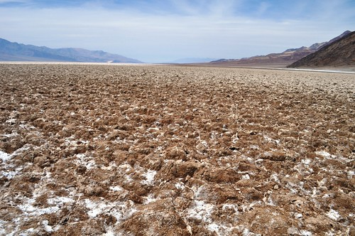 No! Didn't Walk Over these Salt Formations, Badwater Basin, Death Valley National Park, Calif.