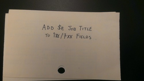 add $e job title to 1xx/7xx fields