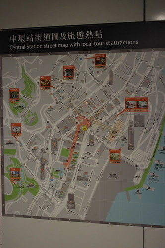 Helpful tourist maps of each station surroundings