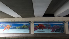 Canal Walk Under Bridge Mural