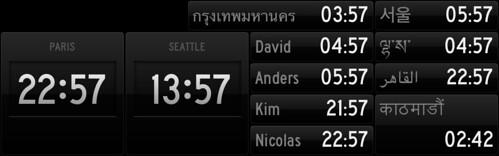 StatusBoard time Widget vs nTime widget