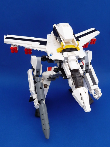 VF-1S Valkyrie Skull Leader Gerwalk Mode (Missiles Armed)