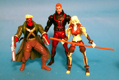 Grifter, Red Lantern Guy Gardner and Chetara