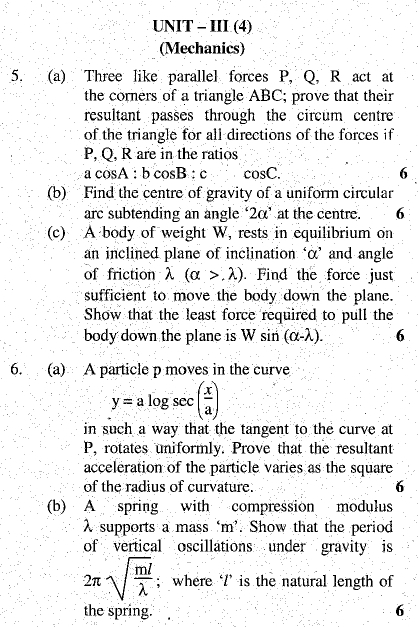 DU SOL B.A. Programme Question Paper -  Mathematics -  Paper XI/XII