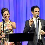 """You're the Top,"" sings Broadway's RODGERS + HAMMERSTEIN'S CINDERELLA stars Laura Osnes and Santino Fontana to Wimberly Awards Judith and Douglas Krupp, photo: Paul Marotta"