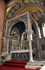 Side View of the Mosaic Interior of the Euphrasian Basilica