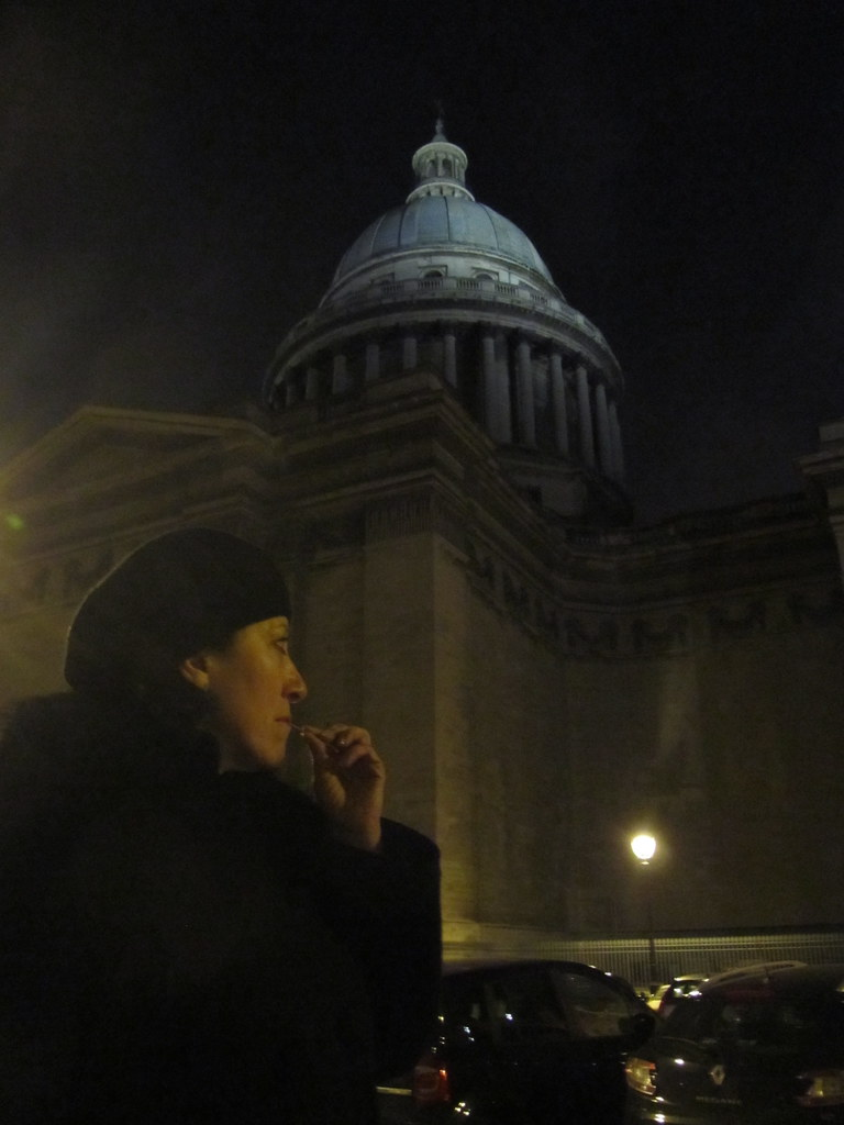 My wife in Paris