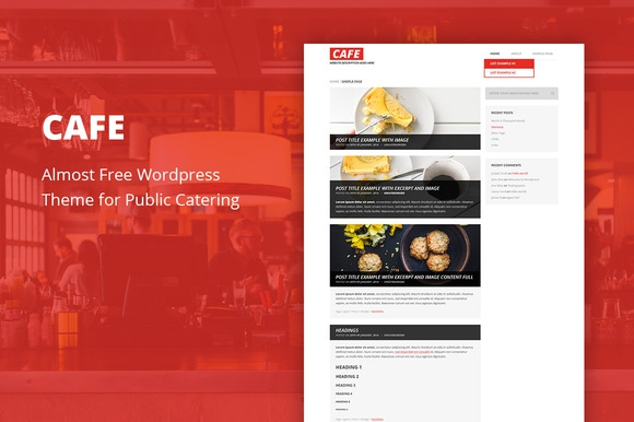 Cafe v1.6 – Cheap WordPress Theme