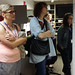 Workshop attendees looking at makerspace by lawrence_makerspace