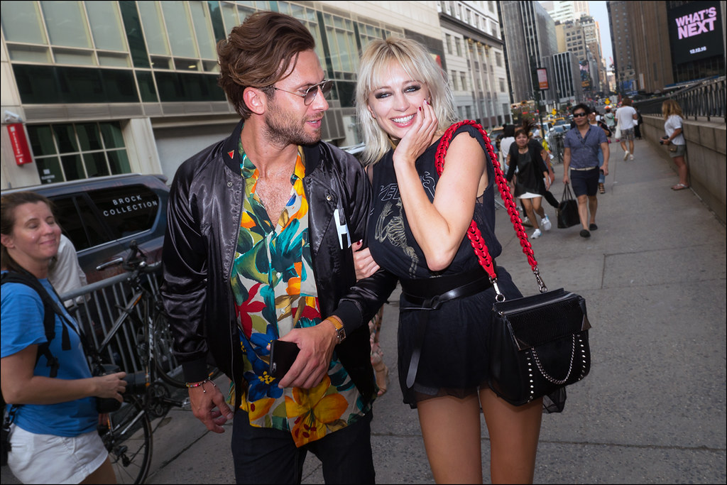 Caroline Vreeland and ???  NYFW Sept. 2016