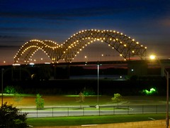 Hernando De Soto Bridge at Sunset (Memphis, Tennessee)