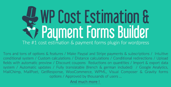 WP Cost Estimation & Payment Forms Builder v9.576