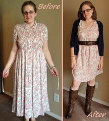 Spring Has Sprung Dress Before & After
