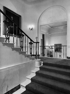 View of the Grand Staircase at the White House, 04/24/1952