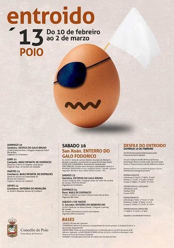 Poio 2013 - Entroido - cartel