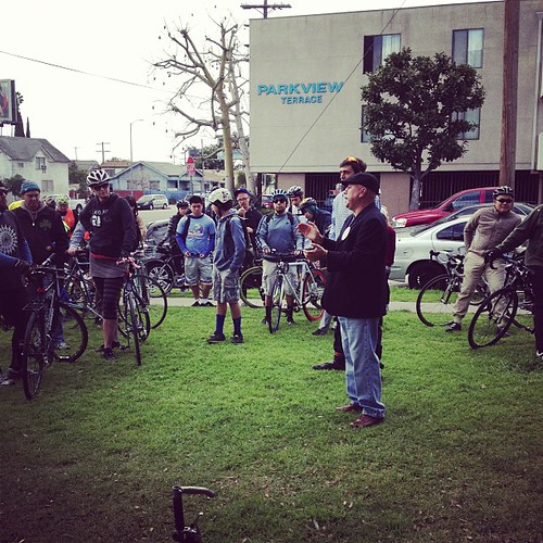 Ed Reyes at #fig4all ride. #bikela