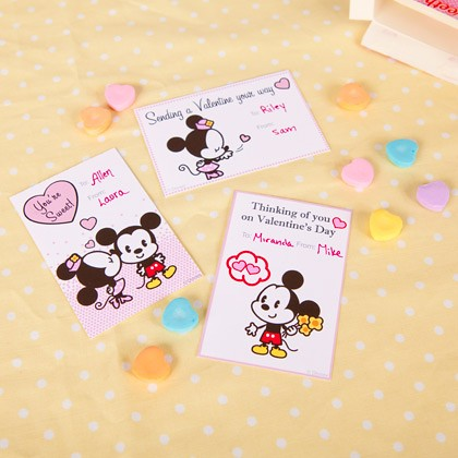 Mickey and Minnie Cutie Valentine's Cards