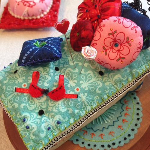 Bed Pincushion coming together by Pinks & Needles (used to be Gigi & Big Red)