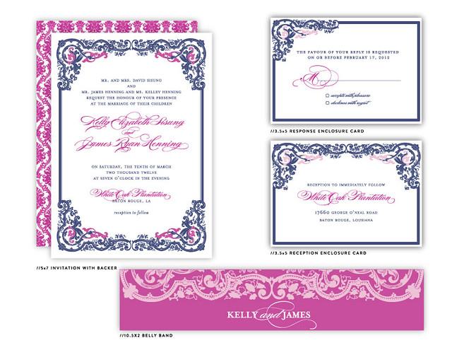 Vintage Glam Wedding Invitations: Pittsburgh Luxury Wedding Invitations