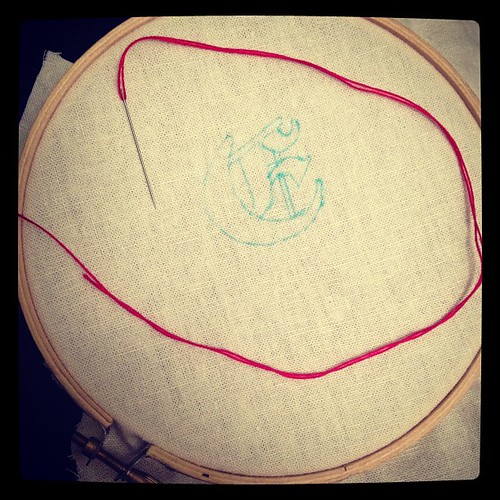 New embroidery project for Smitten Heart.