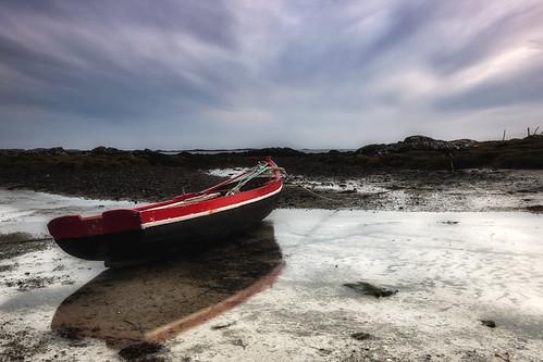 ireland sunset sun reflection galway clouds boat nikon d90 todaniell odaniell tomodaniellcom