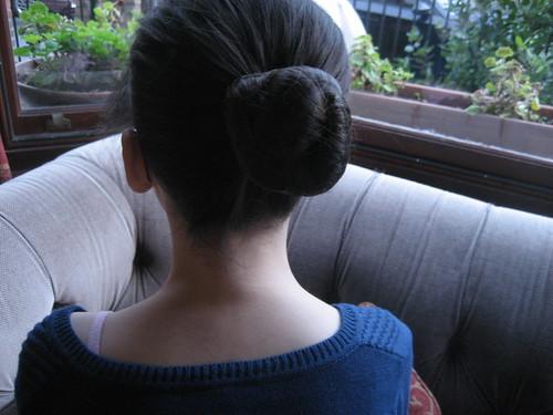 Her ballet hair