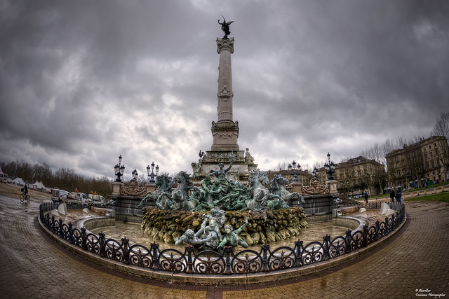 Monument aux Girondins (I). Bordeaux (Fisheye Vision)