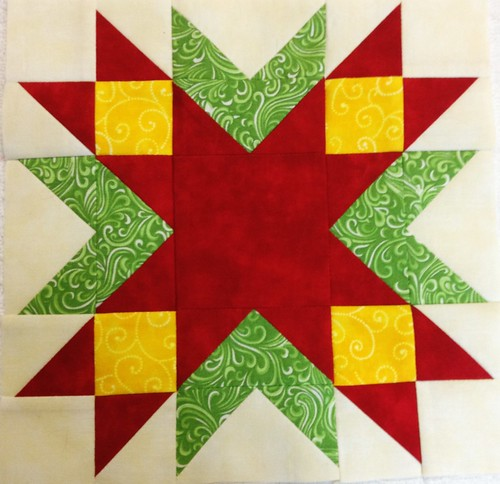 Jingle Belle's Pieced Block 1