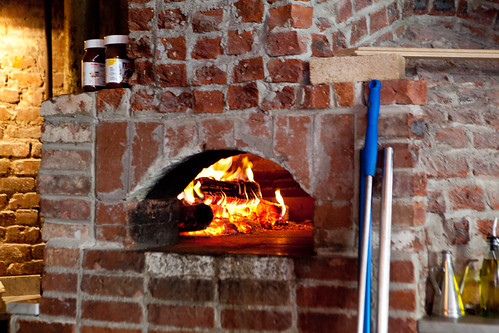 The restaurant's wood fire oven