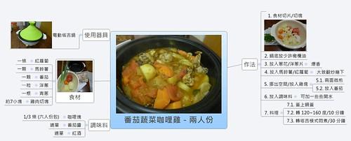 番茄蔬菜咖哩雞-兩人份