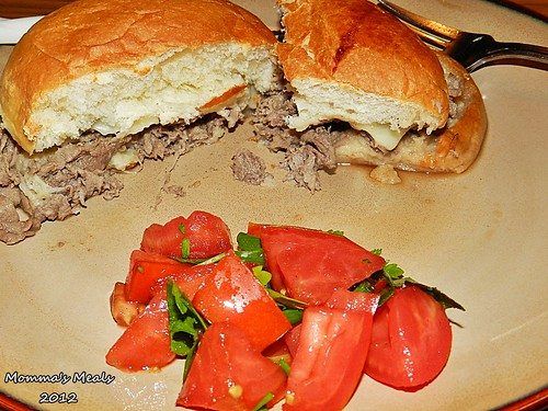 Steak & Cheese Sandwiches w/Au Jus Sauce