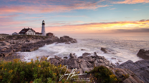 lighthouse me sunrise portland maine portlandheadlight