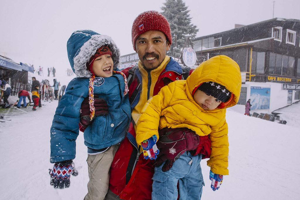 Turkey   Father and Son   Bursa   Uludag in Winter