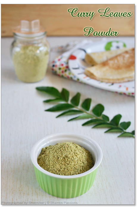 Curry Leaves Powder Recipe