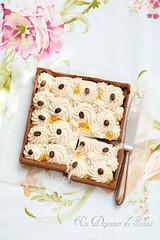 White chocolate, coffee and orange tart