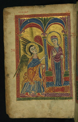 Gospel Book, Annunciation, Walters Manuscript W.540, fol. 7v by Walters Art Museum Illuminated Manuscripts