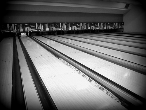 Just us at the bowling alley by PhotoPuddle