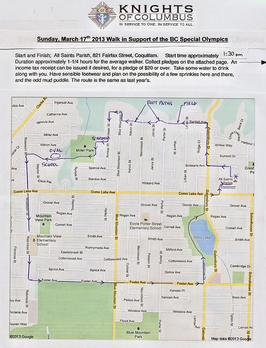 Walkathon Map 2013