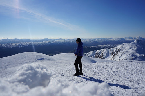 On the summit of Meall nan Tarmachan