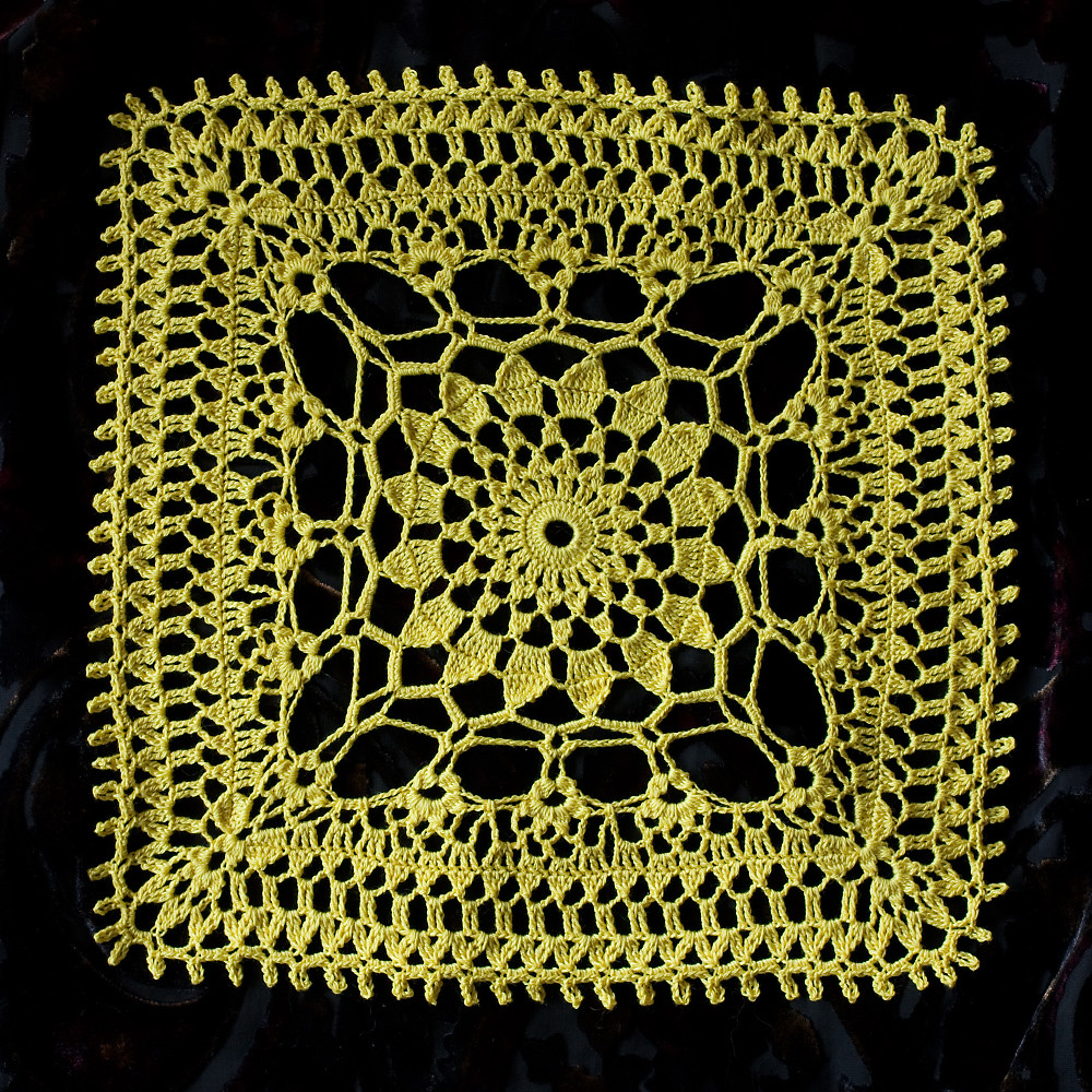 54/365 - Slice of Sunshine Doily