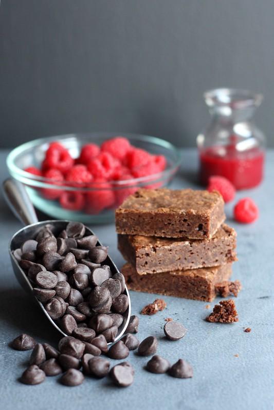 Raspberry Dark Chocolate Ice Cream with Brownie Chunks